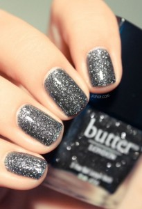 Verniz cinza glitter