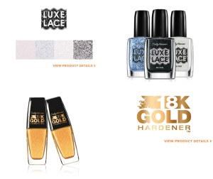 Luxe Lace & 18K Gold Hardener, Sally Hansen