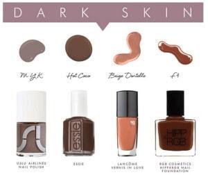 Vernizes nude para peles de tons escuros