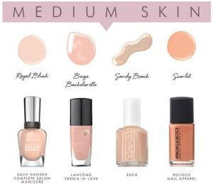 Vernizes nude para peles de tom médio/bronzeado