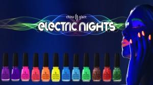 """Coleção """"Electric Nights"""", China Glaze"""