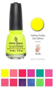 """Coleção """"Summer Favorites"""", China Glaze"""