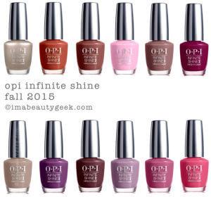 Os vernizes da coleção OPI Infinite Shine Fall 2015